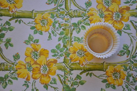 Wall paper and favor cup