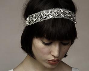 Encrusted crystal headband
