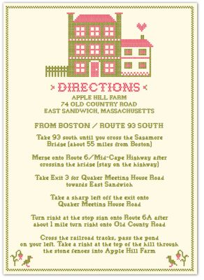 Cross stitch directions