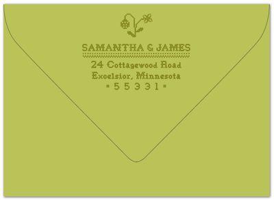 Cross stitch envelope
