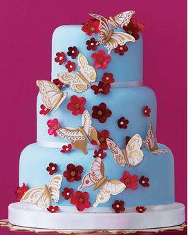 Butterfly & flower cake