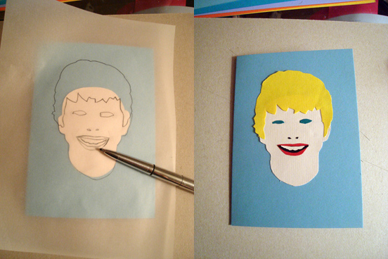 Paper Portrait Card 2