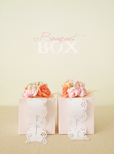 DIY Bouquet Favor Box
