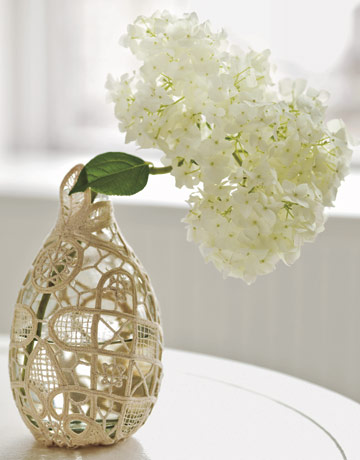 Doily Vase via Country Living