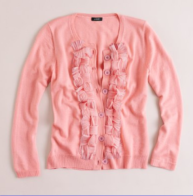 J Crew Ruffled Sweater