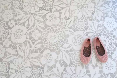 Lacy Floor via Concrete & Honey