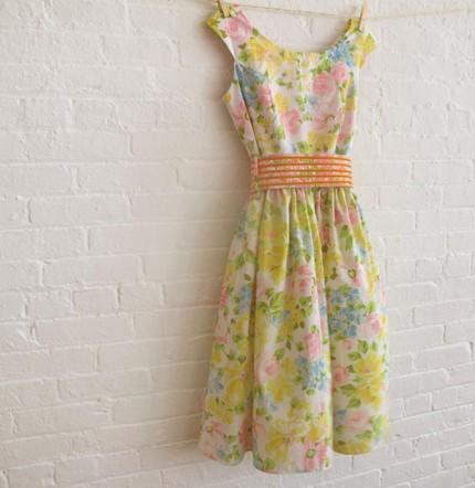 Soho Mode Tea Dress Yellow