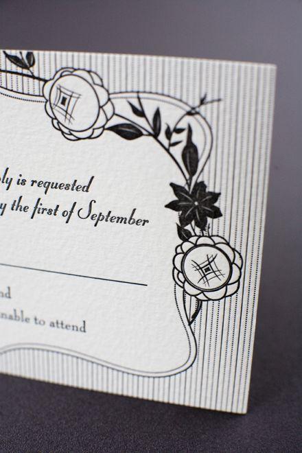 French Deco Wedding Invitation