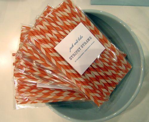 Jack & Lulu Stripey Straws