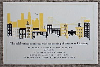 Visit New York Reception Card