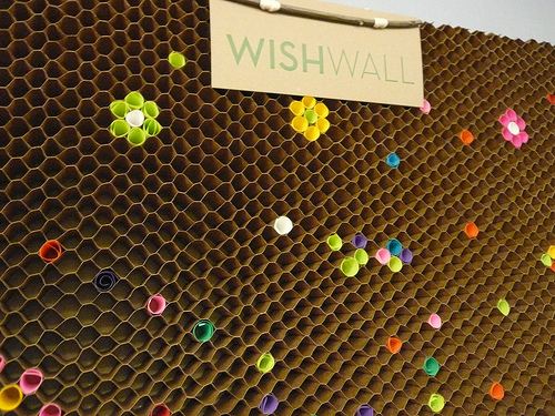 Cardboard Design Wish Wall