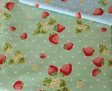 Strawberries and polka dots