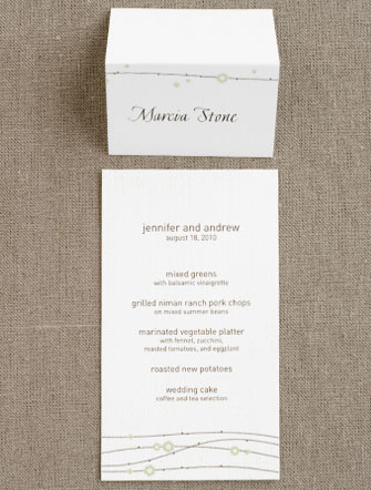 Origami Garden Menu and Place Card