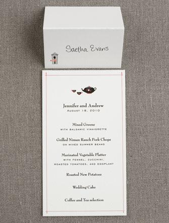 Visit London menu and place card
