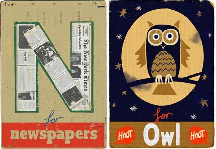 Newspaper & Owl
