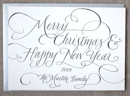 Papineau Calligraphy Christmas