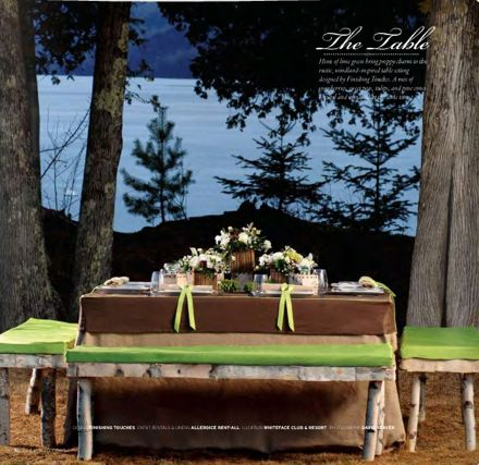 Well Wed Green Table