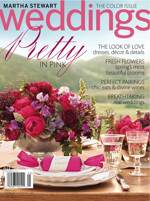 Martha Stewart Weddings Spring 2010 Cover