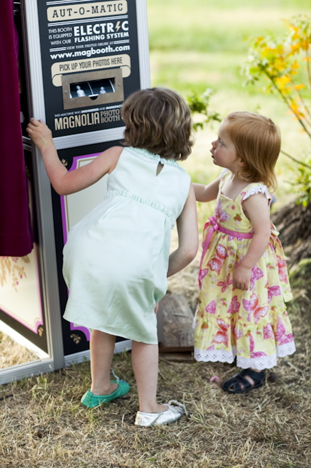 Little guests and photo booth