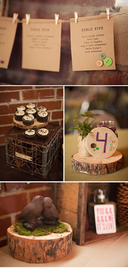 wood-slice-stitched-kraft-paper-DIY-wedding6