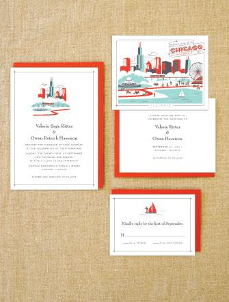 New Destination Wedding Invitations Chicago Las Vegas Los