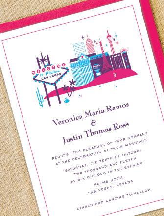 New Destination Wedding Invitations: Chicago, Las Vegas, Los Angeles U0026  Paris!