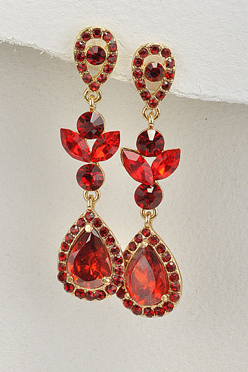 K15E5S3-R-Scarlet-Teardrop-Crystal-Earrings