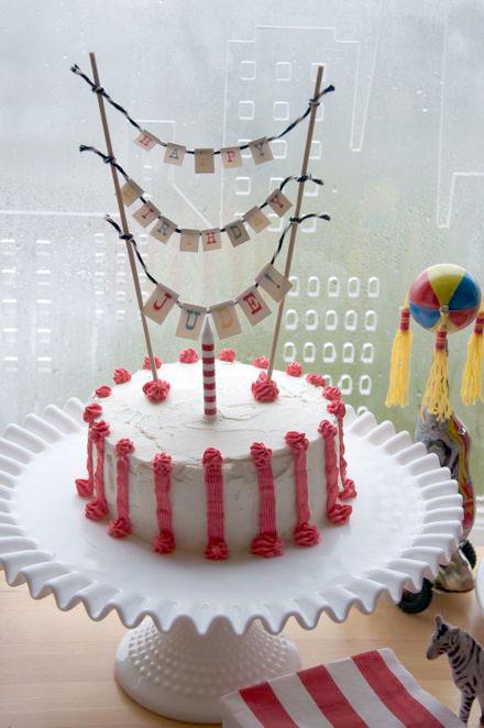 Judes Big Top Birthday Birthday Cake Banner HelloLucky