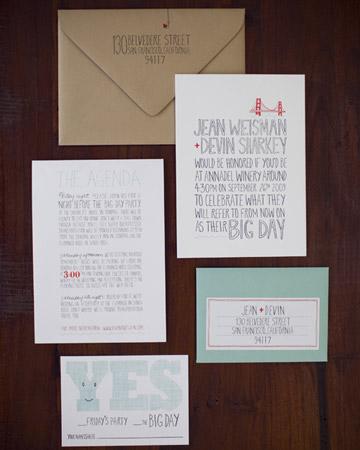 Jean & Devin's invitation