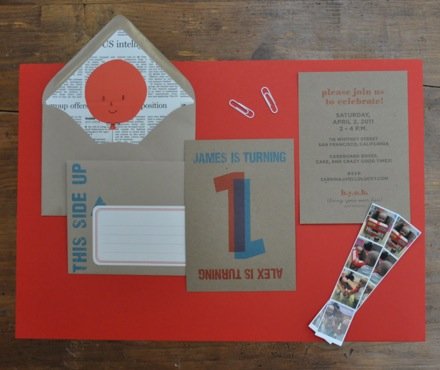 Letterpress Party Invitation