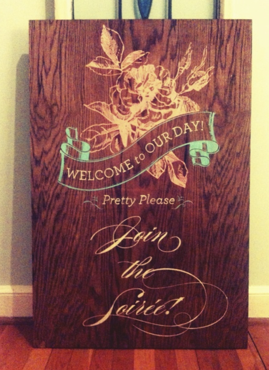 Hand-Painted Wedding Sign