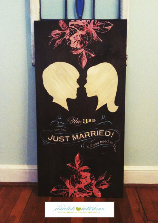 hand-painted wedding gift