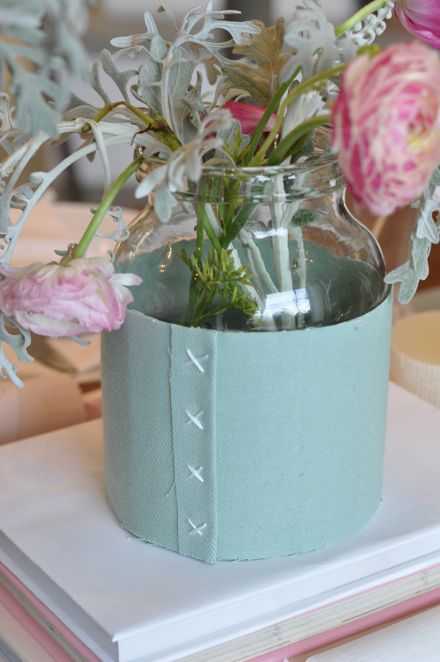 Romantic Fabric Wrapped Container