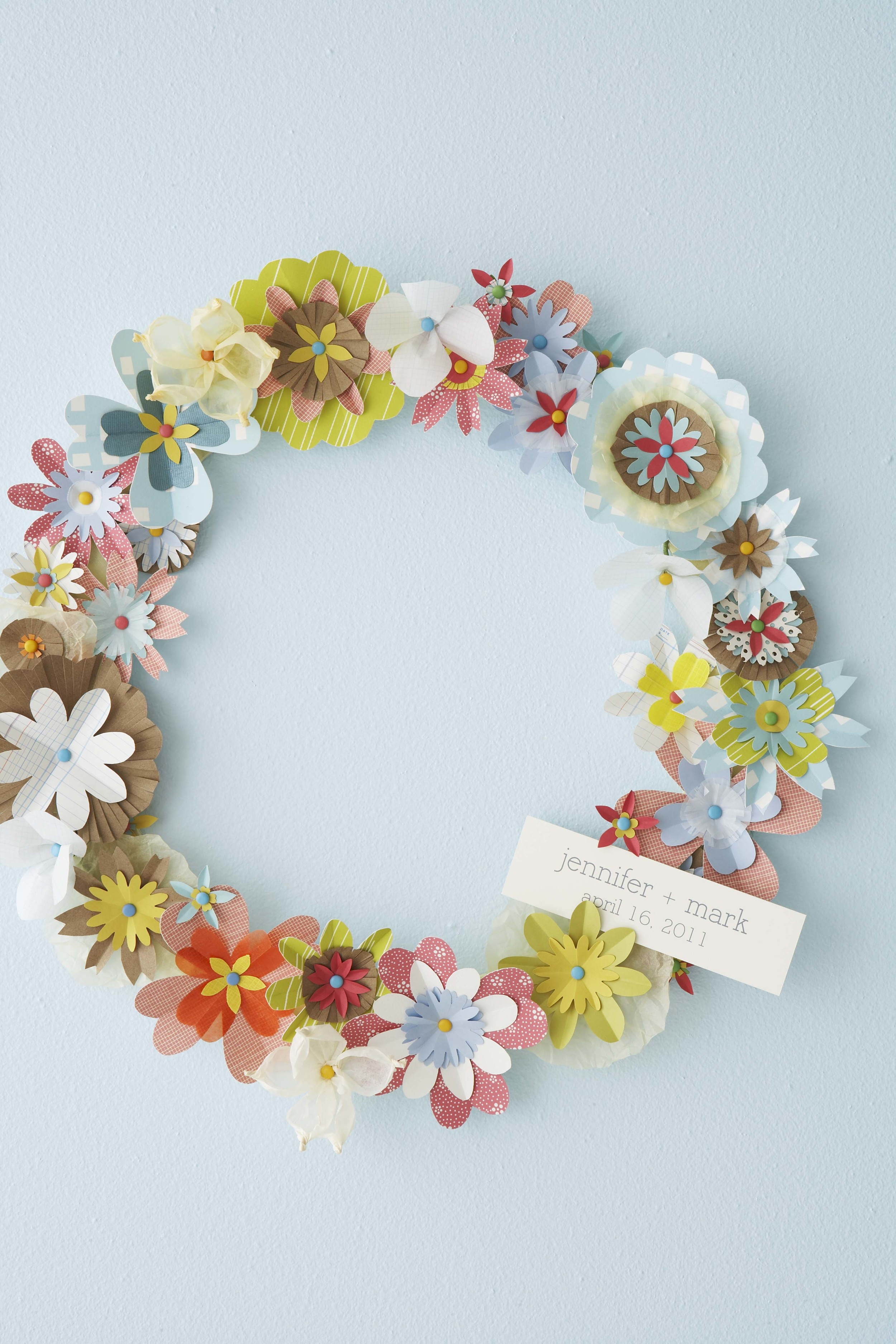 Spring Diy Paper Flower Wreath Hello Lucky