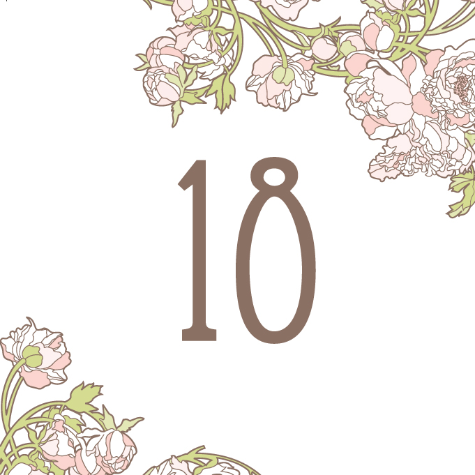 Free download table numbers hellolucky for Free wedding table number template
