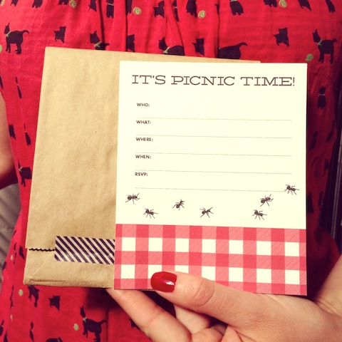 Free Printable Picnic Party Invite  HelloLucky