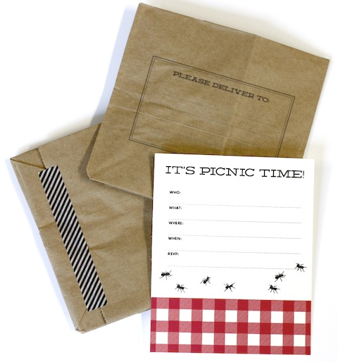 Free Printable Picnic Party Invite HelloLucky – Picnic Party Invitations