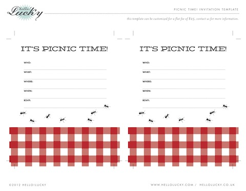 Free Printable! Picnic Party Invite! — Hello!Lucky