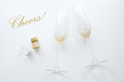 DIY Gold Confetti Champagne Flutes Hello!Lucky