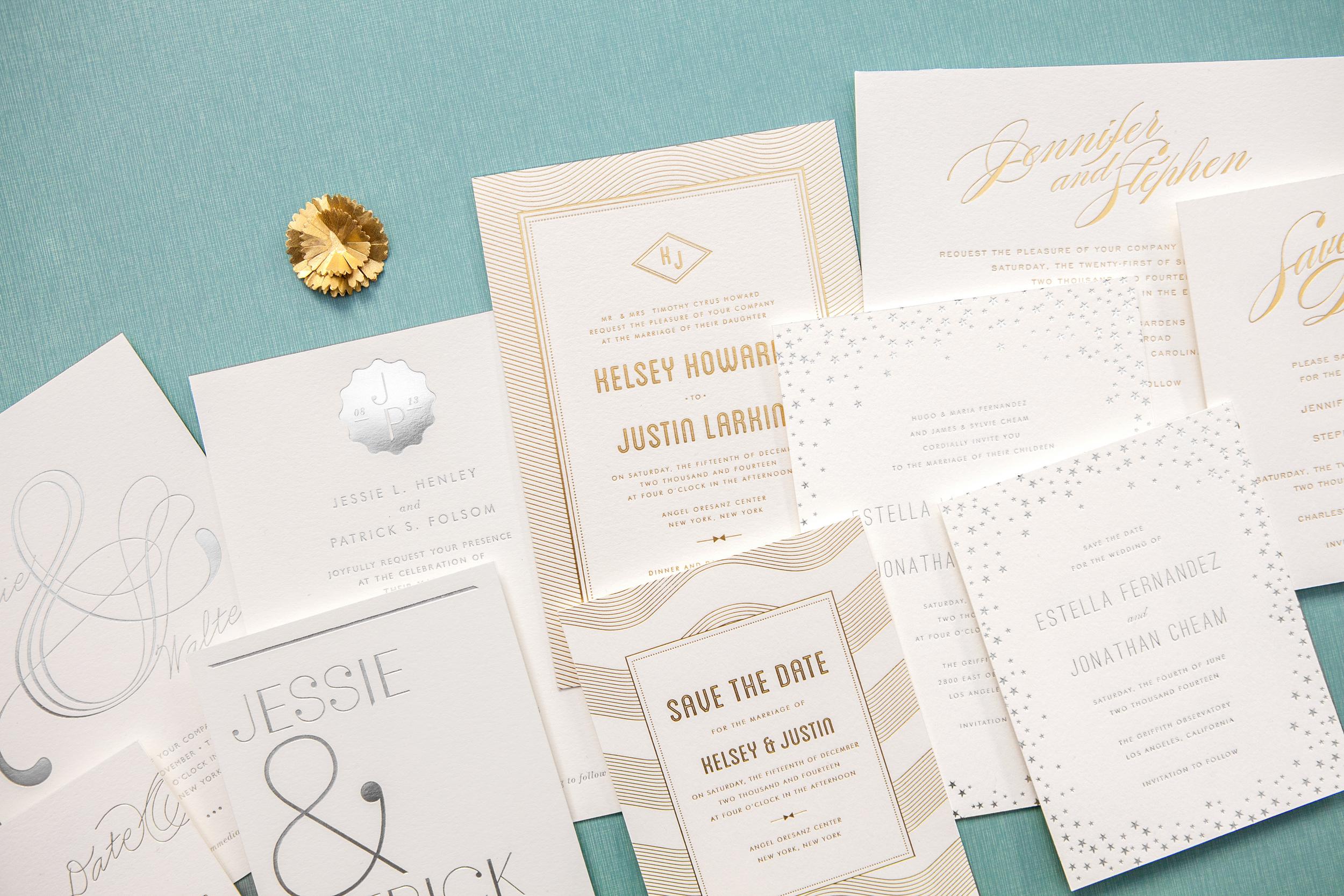 new! foil stamp wedding invitations — hello!lucky, Wedding invitations