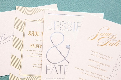 New Foil Stamp Wedding Invitations HelloLucky