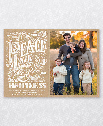 kraft paper holiday card