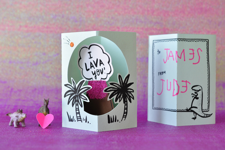 DIY I Lava you popup card HelloLucky – Pop Up Valentines Day Card