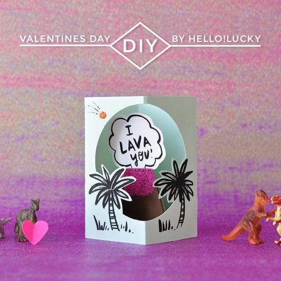 I Lava You Pop-up Card