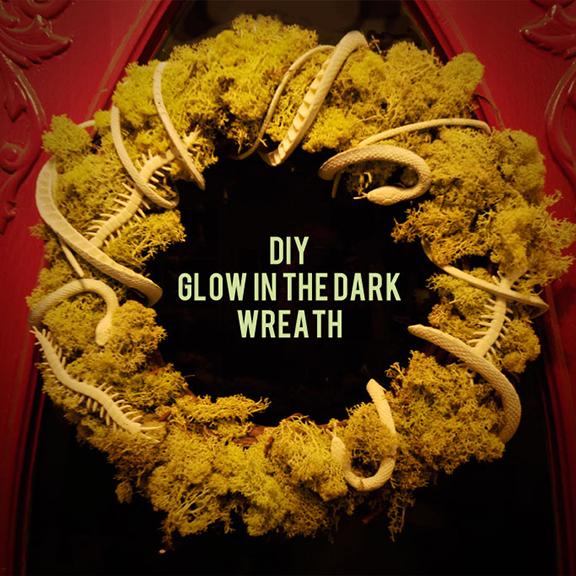 Glow in the dark wreath