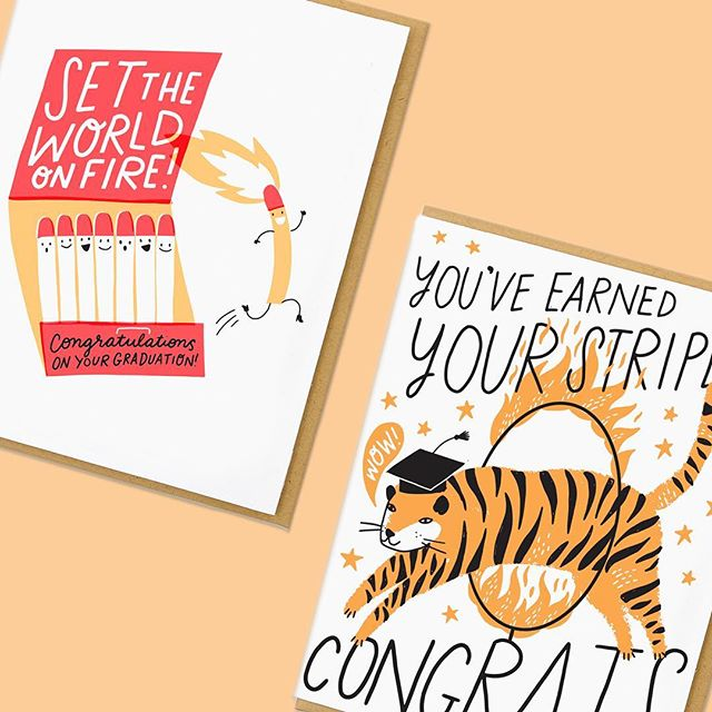 """Save 20% on all our graduation cards! Use code """"GRAD20"""" now until 5/28. Stock up and celebrate all of the graduates in your life.👩🏼🎓👨🏾🎓🎓🎉 Tap to Shop!"""