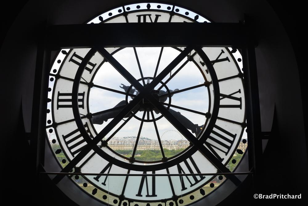Paris beyond Musée d'Orsay's clock