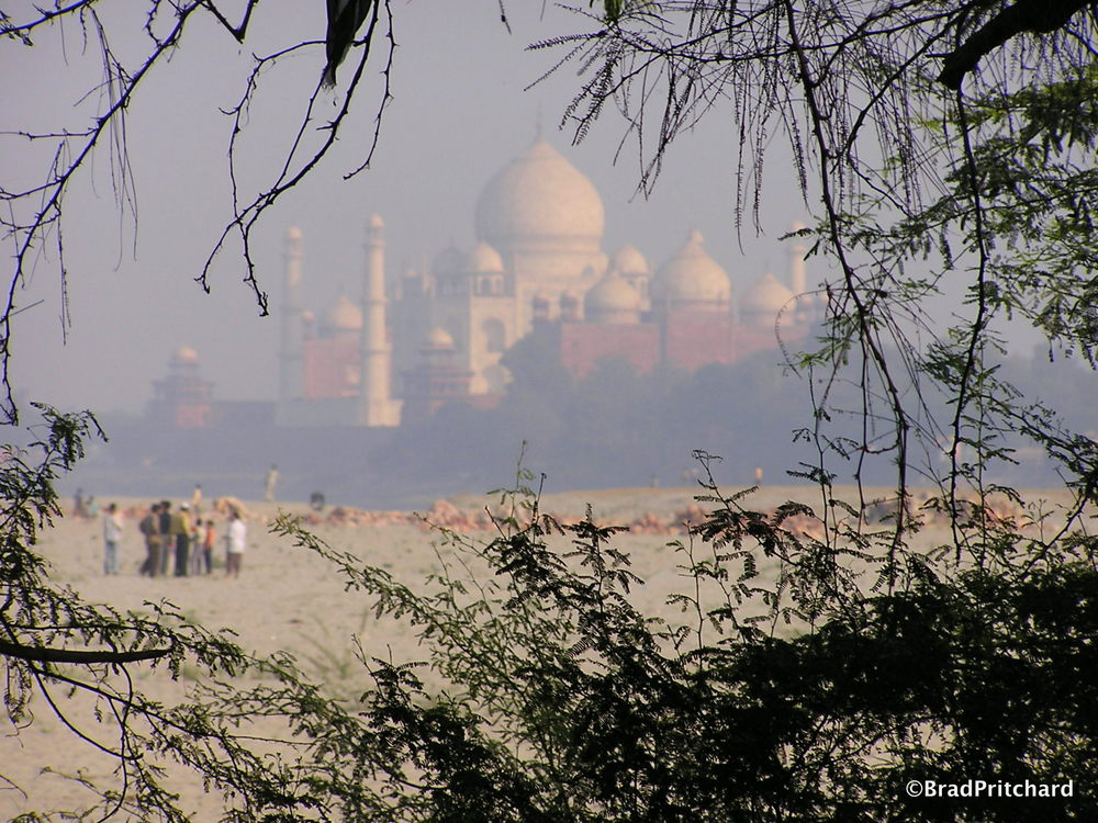 Agra - Taj Mahal from a distance