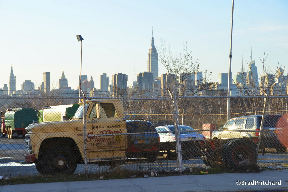 An industrial lot in Greenpoint with a priceless view.