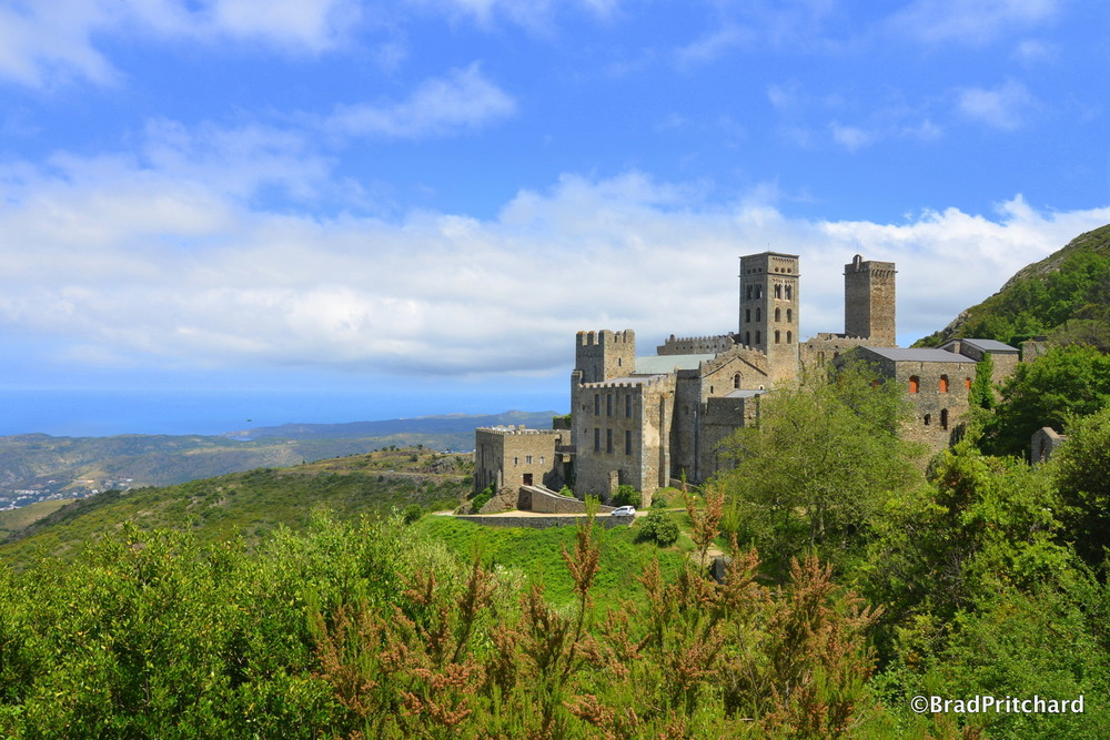 Sant Pere de Rodes from hike behind the monastery